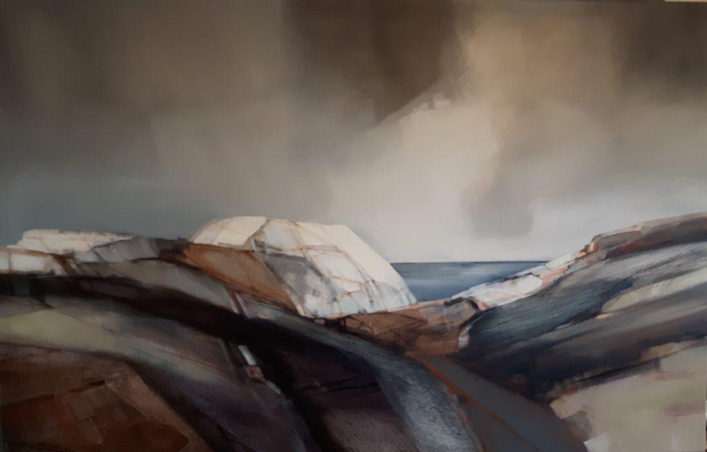 Vinterlandskap fra kysten Format 90x140